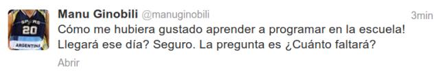 Tuit de Manu Ginobili