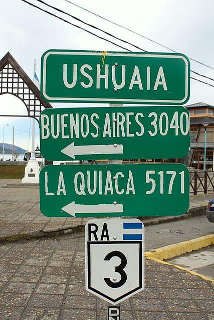 Cartel en Ushuaia, provincia de Tierra del Fuego
